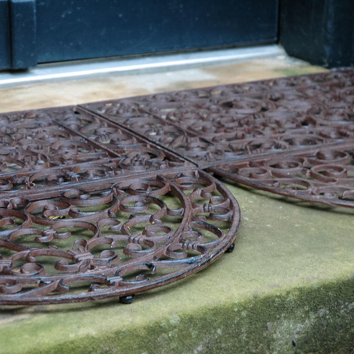 Fußmatte Viktoria, 2,3x40x69 cm, Gusseisen, braun | #6