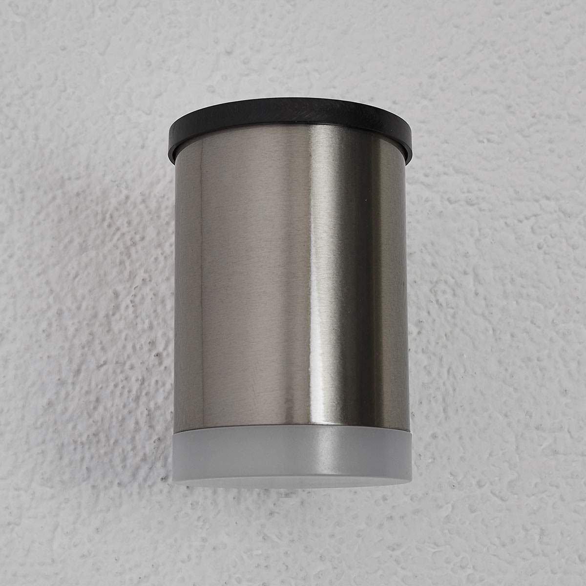 LED-Solar-Außenwandleuchte Tyson, 11,5x8x11,5 cm, Edelstahl, silber | #6