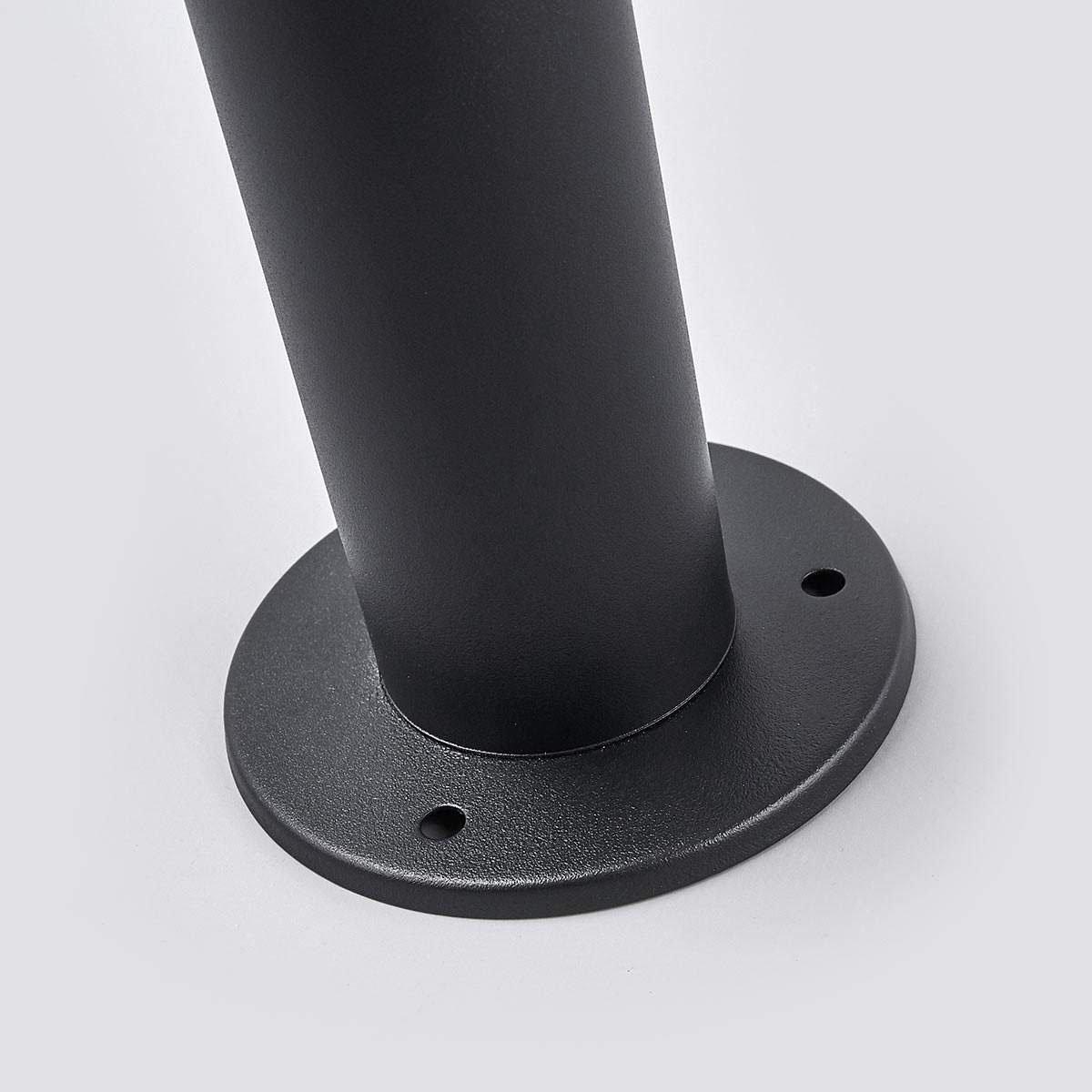 Solar-Sockellampe Eliano mit Bewegungsmelder, 45,5x16x16 cm, Edelstahl, schwarz   #6
