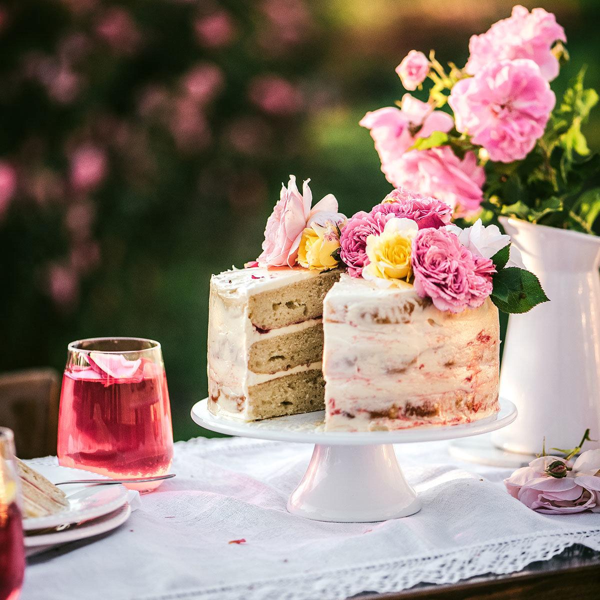 Essbare Culinaric Rose, rosa-apricot, im ca. 22 cm-Topf | #6