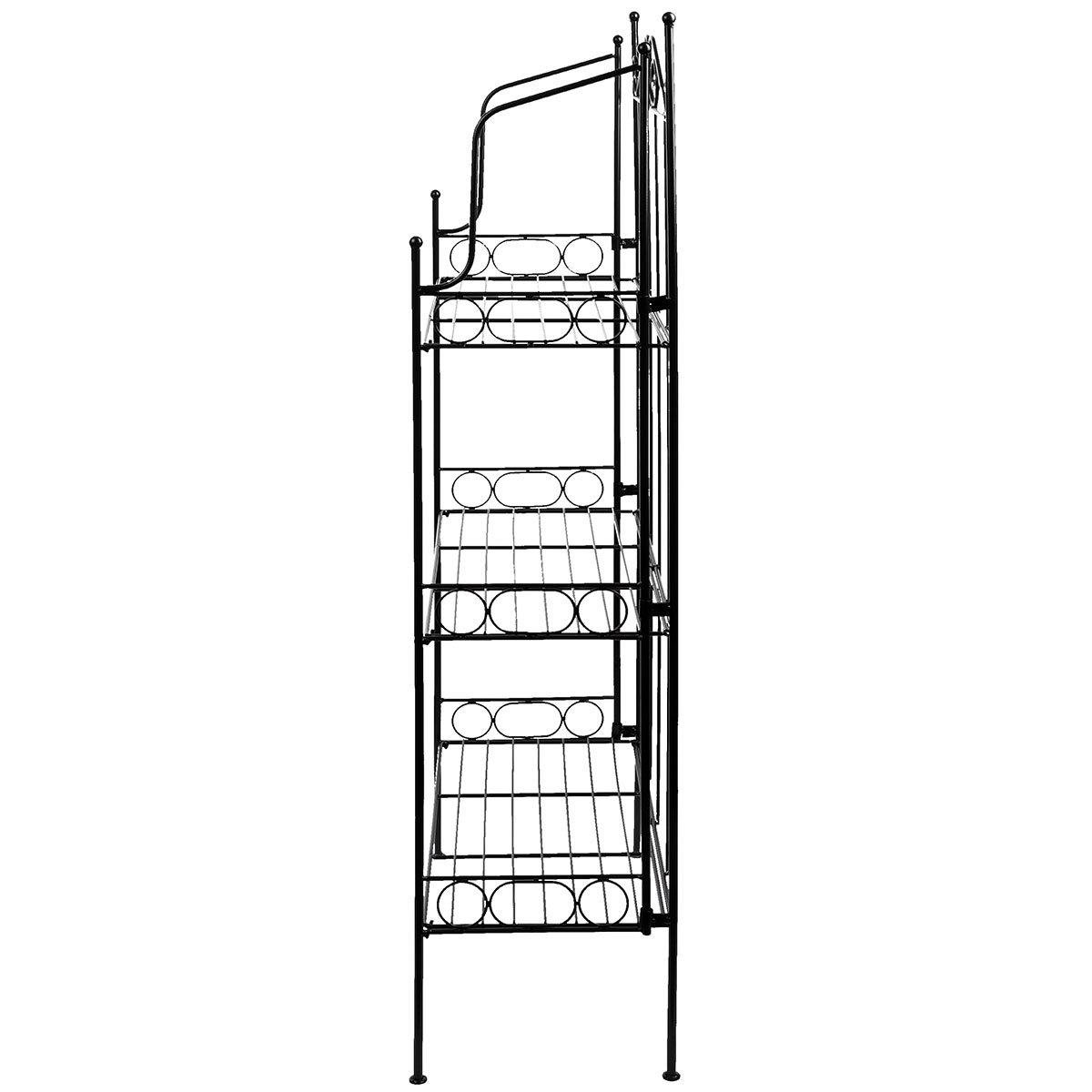 Metallregal Etagere mit 3 Böden, faltbar, ca. 109x55x25 cm | #6