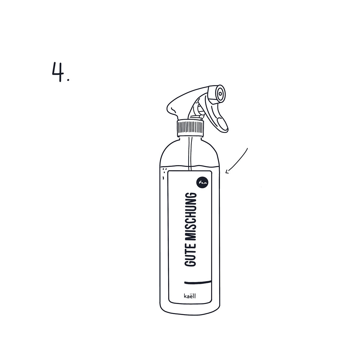 Mischflasche Gute Mischung, für Konzentrate, 750 ml | #6