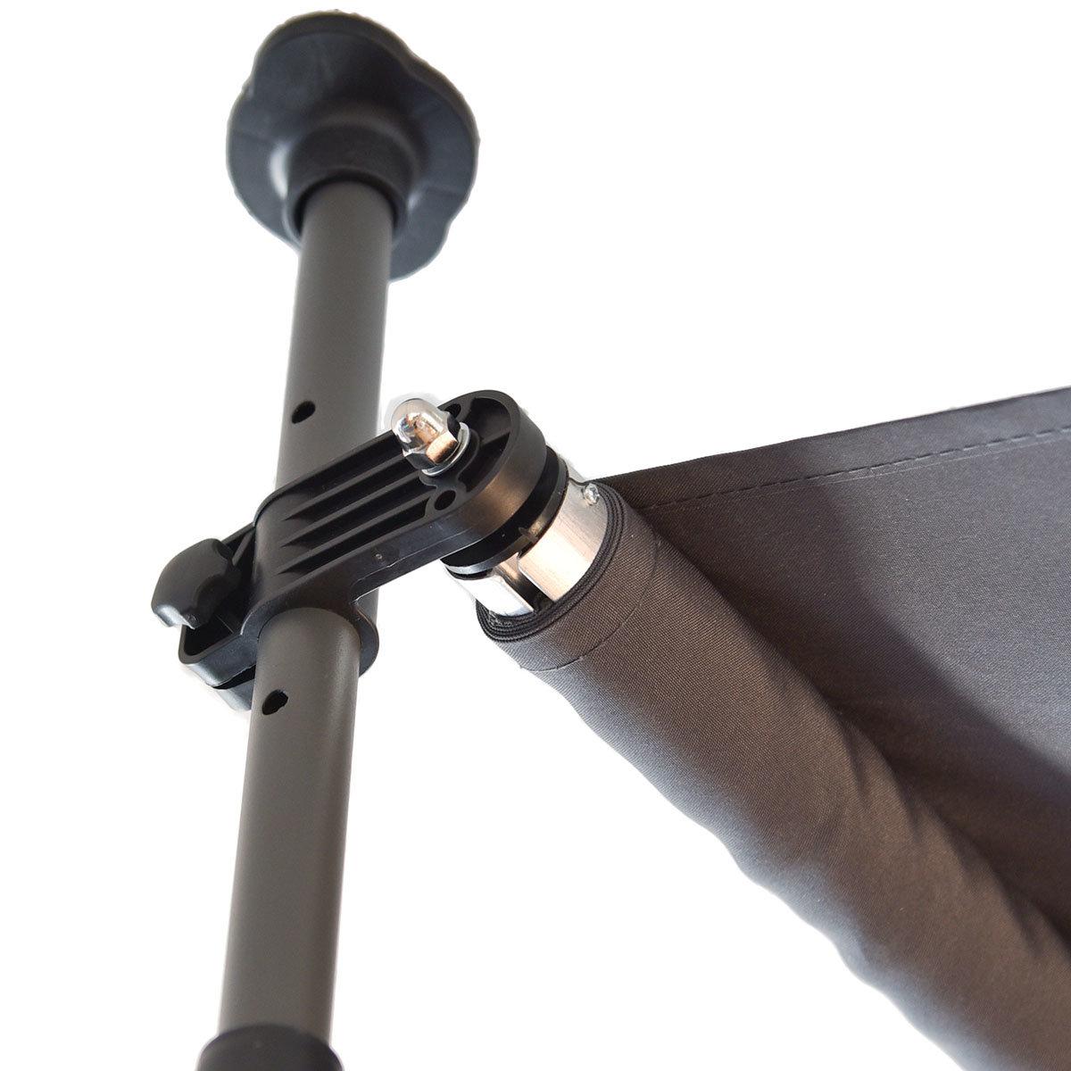 Klemmmarkise 300x300 cm, schwarz | #6