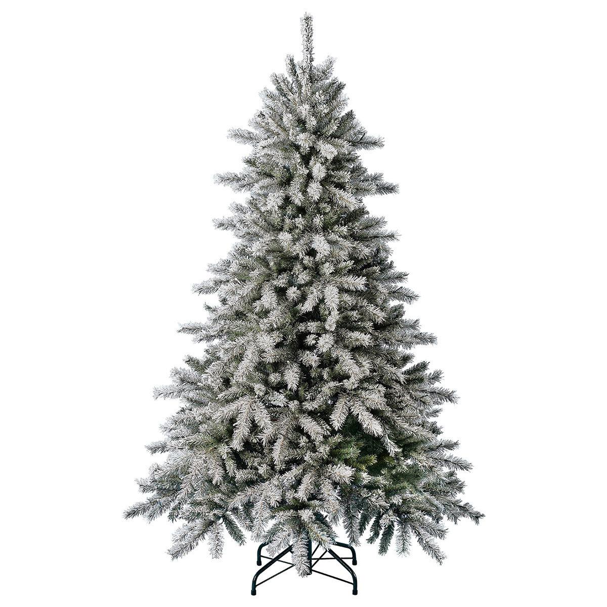 Künstlicher Weihnachtsbaum Fichte, Schneeoptik, mit Beleuchtung, 150 cm   #6