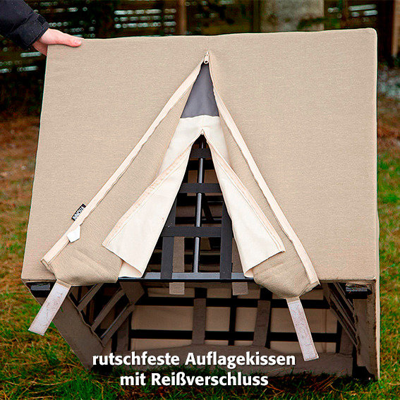Outdoor Sessel Sunflower mit Armlehnen, beige | #6
