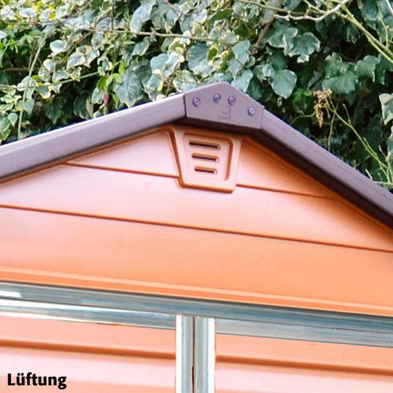 Skylight Gartenschuppen 4x6' braun, inkl. Boden | #6