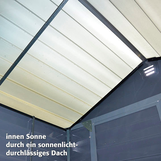 Skylight Gartenschuppen 6x5' grau, inkl. Boden | #6