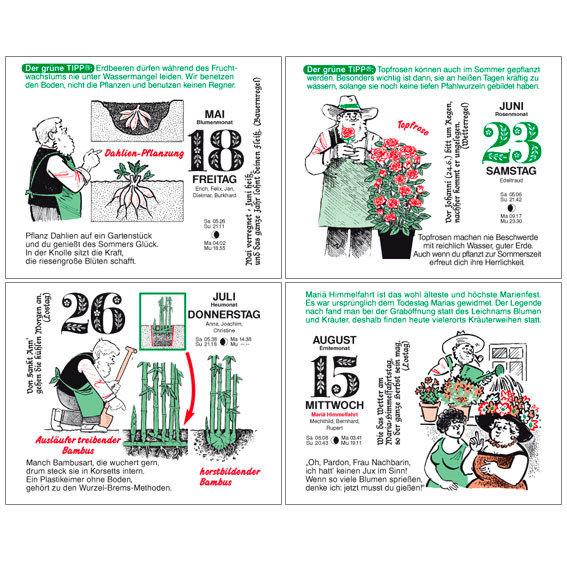 Gärtner Pötschkes Tages-Garten-Kalender Der Grüne Wink® | #6