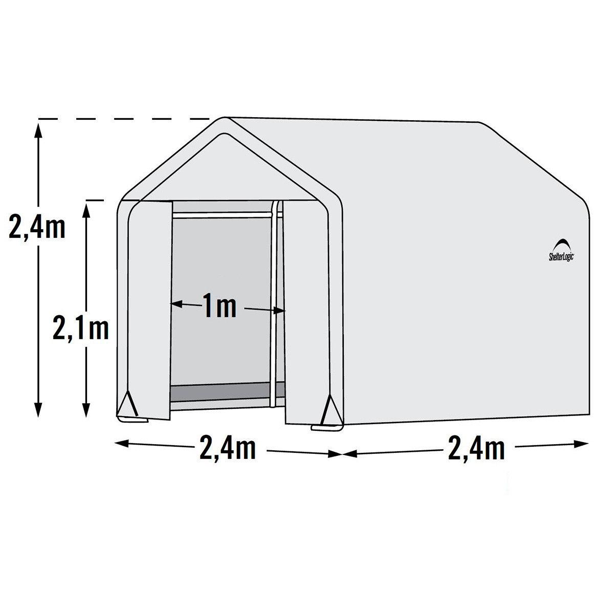ShelterLogic Folien-Gewächshaus 5,76m² inkl. Sturmanker | #7