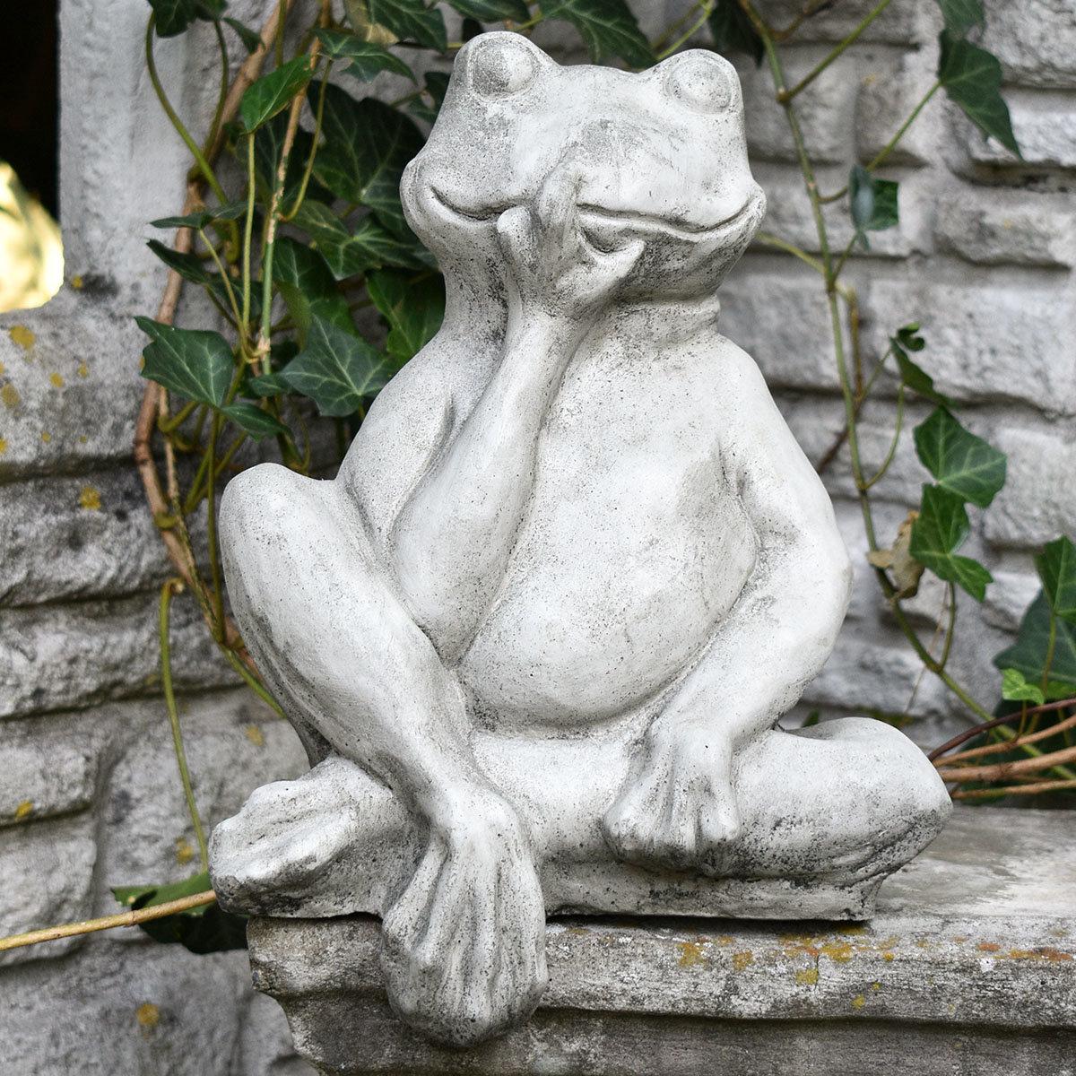 Gartenfigur Mauerhocker Frosch | #7