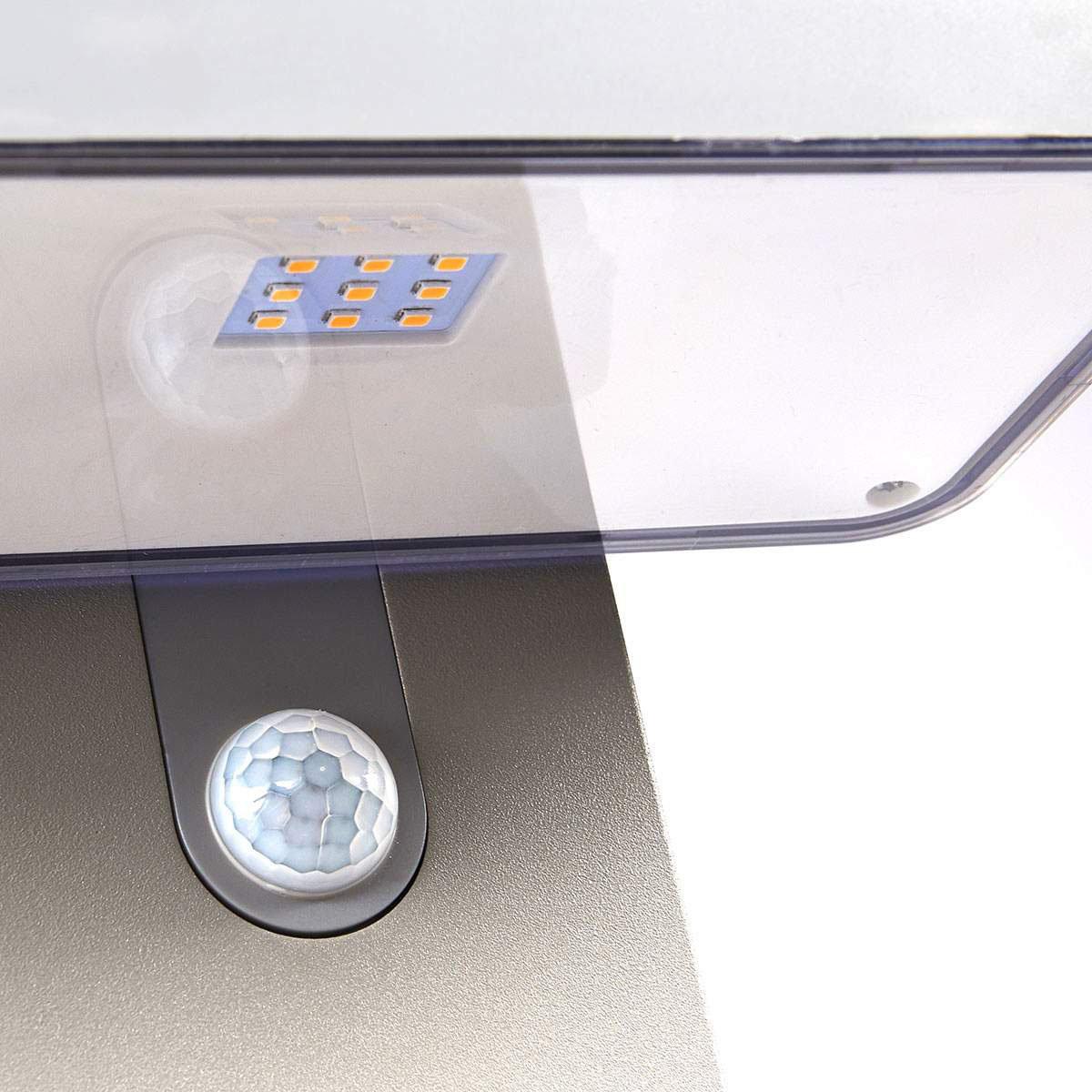 LED-Sockelleuchte Maik mit Bewegungsmelder, 60x18x13 cm, Kunststoff,  grau | #7