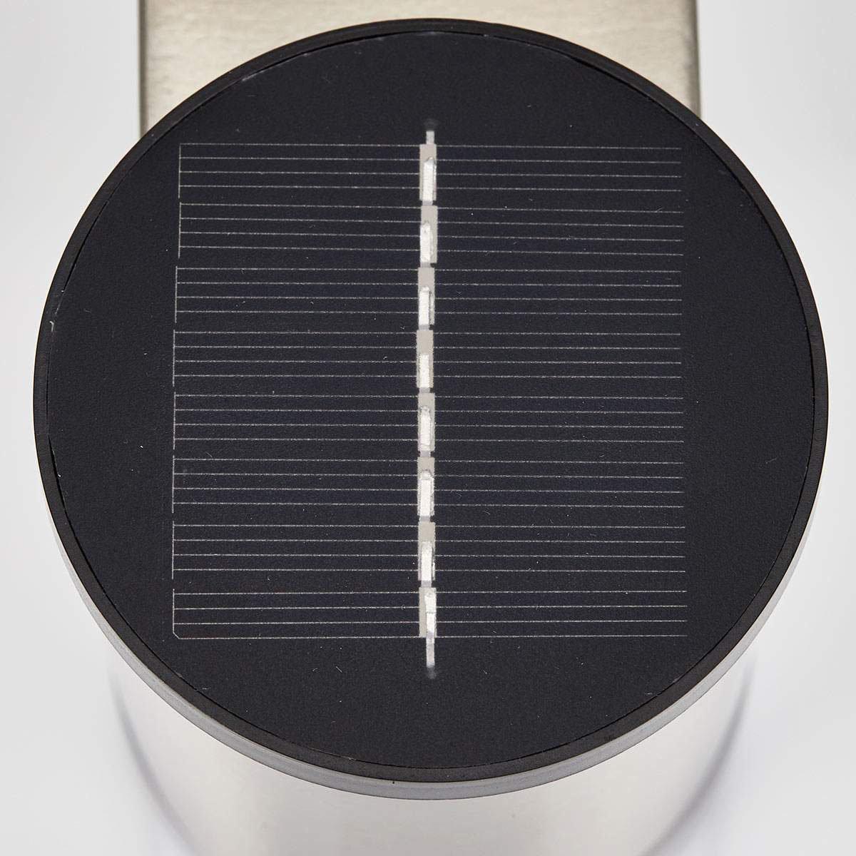 LED-Solar-Außenwandleuchte Tyson, 11,5x8x11,5 cm, Edelstahl, silber | #7