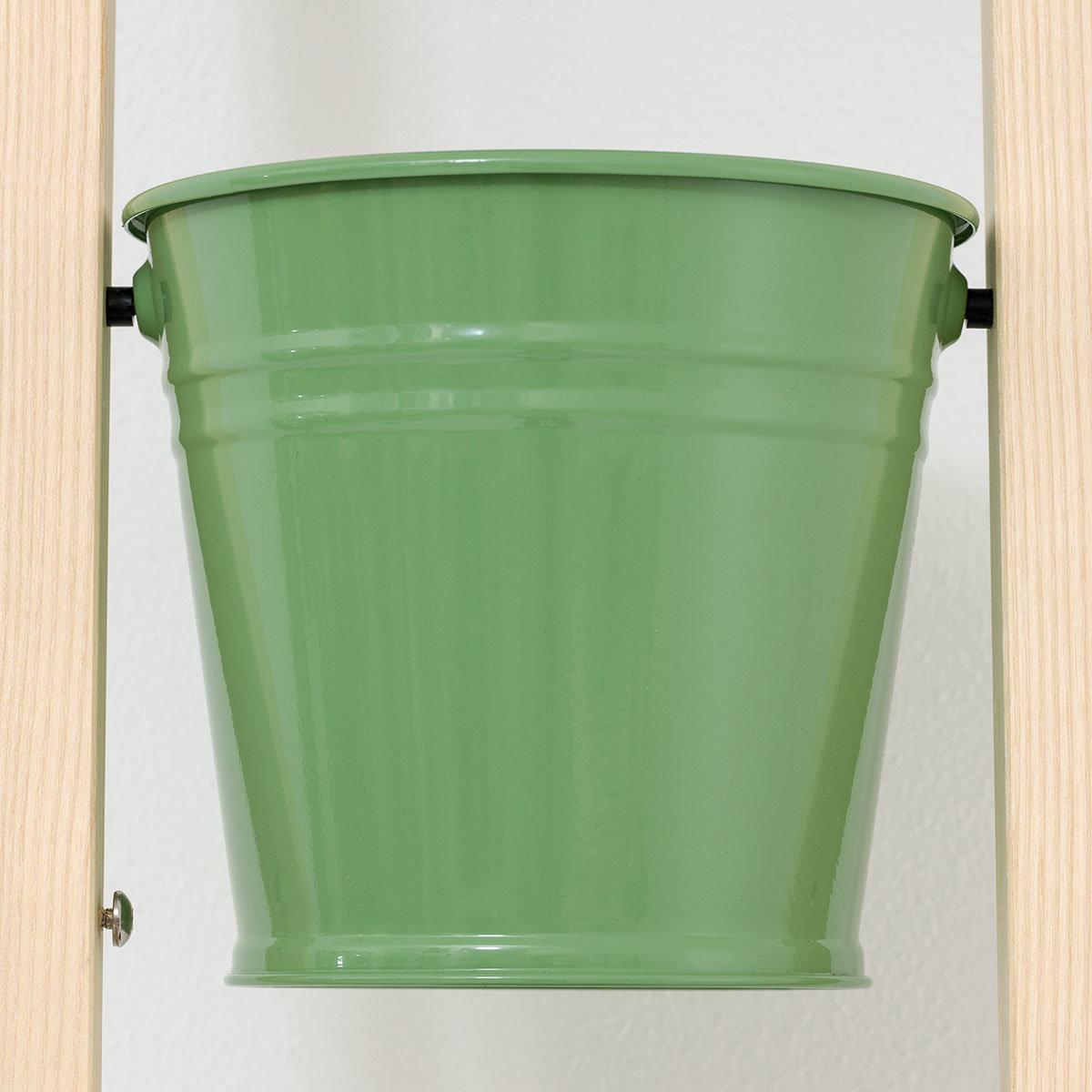 Pflanzleiter mit Topf 2-in-1 ,238x22x42 cm, Eschenholz, blassgrün | #7