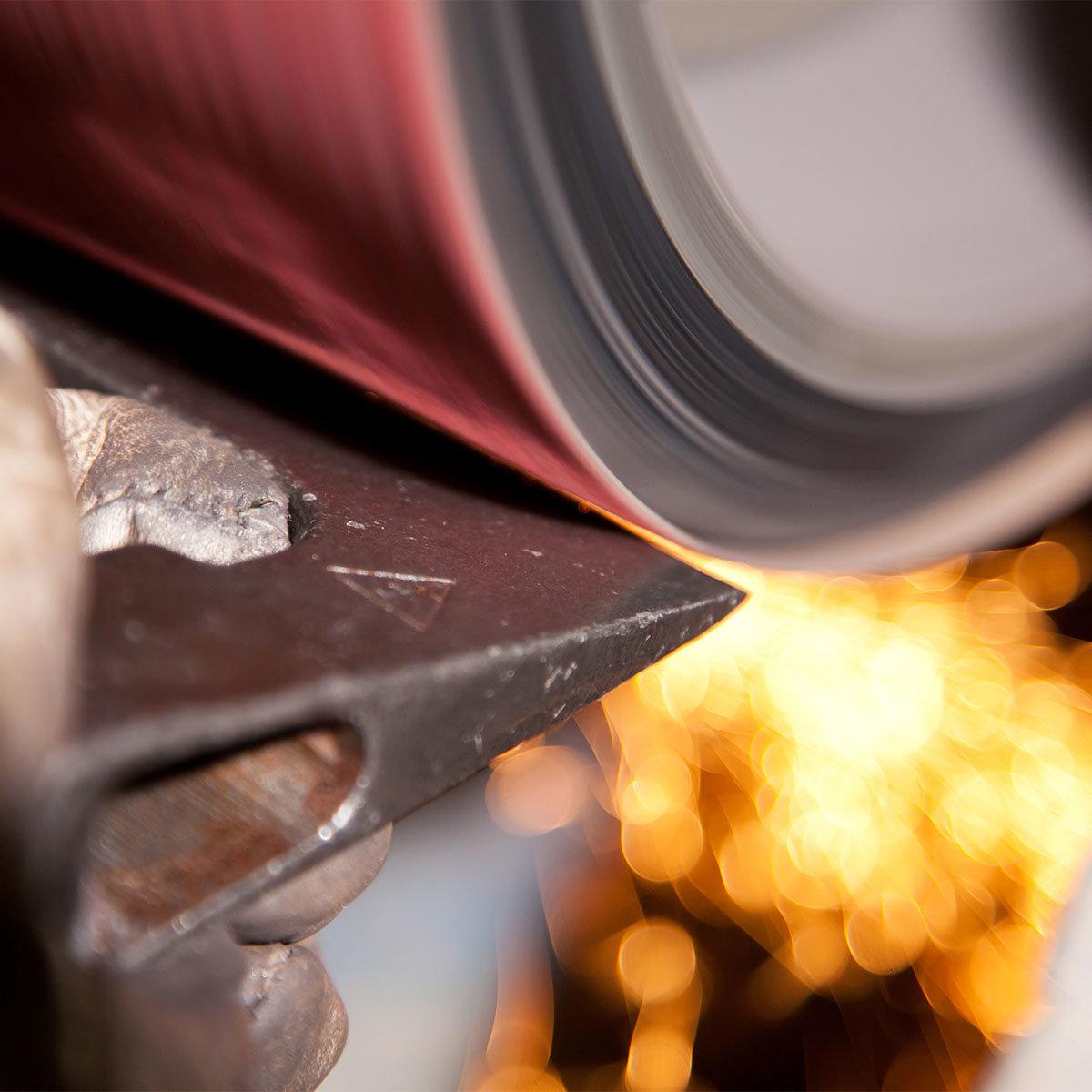 Handbeil, klar lackiert, mit Lederschneidenschutz, 31 cm | #7