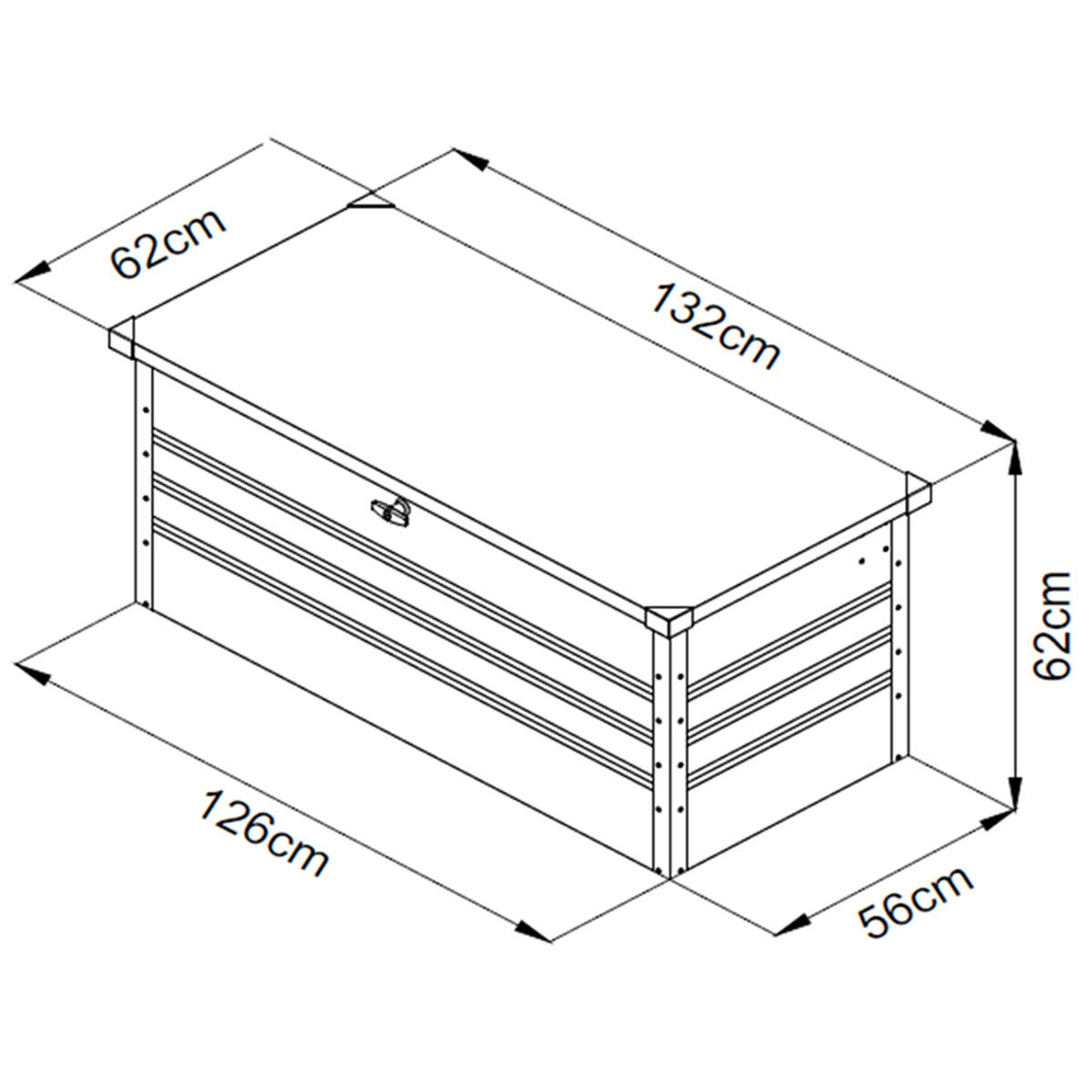 Auflagenbox Mega, mit Bodenplatte, verschließbar, 400 Liter Volumen | #7