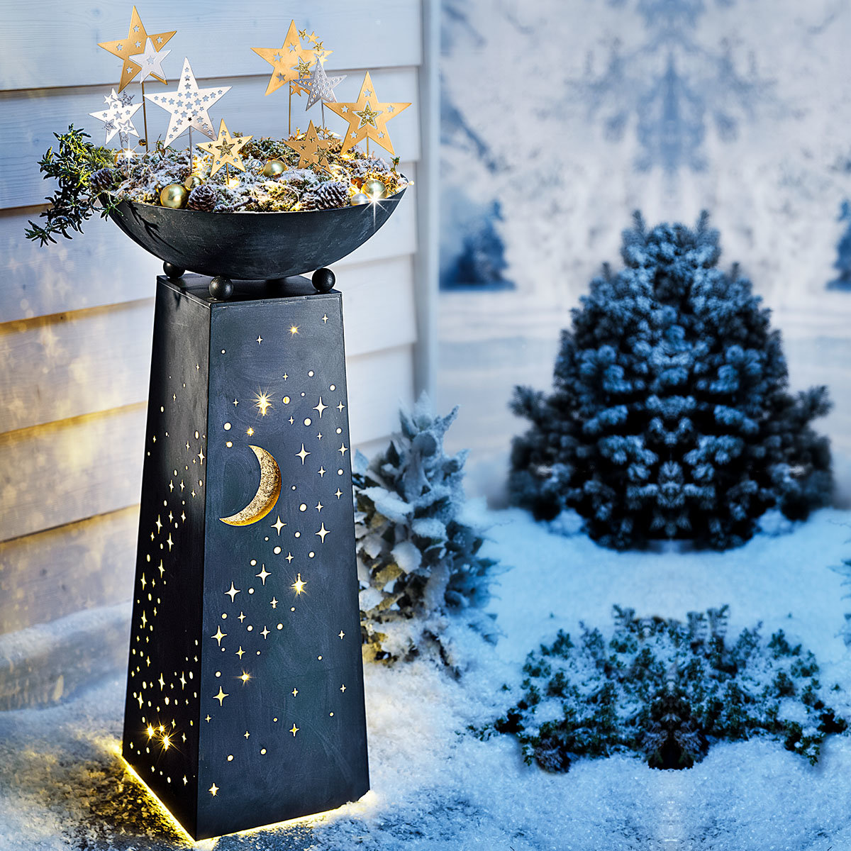 Pflanzsäule Sternenhimmel mit LED-Beleuchtung | #7