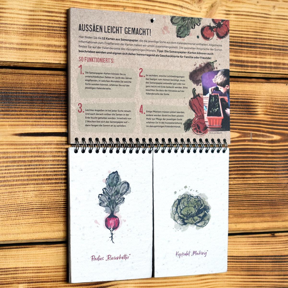Einpflanzbarer Kalender - Historisches Saatgut | #7
