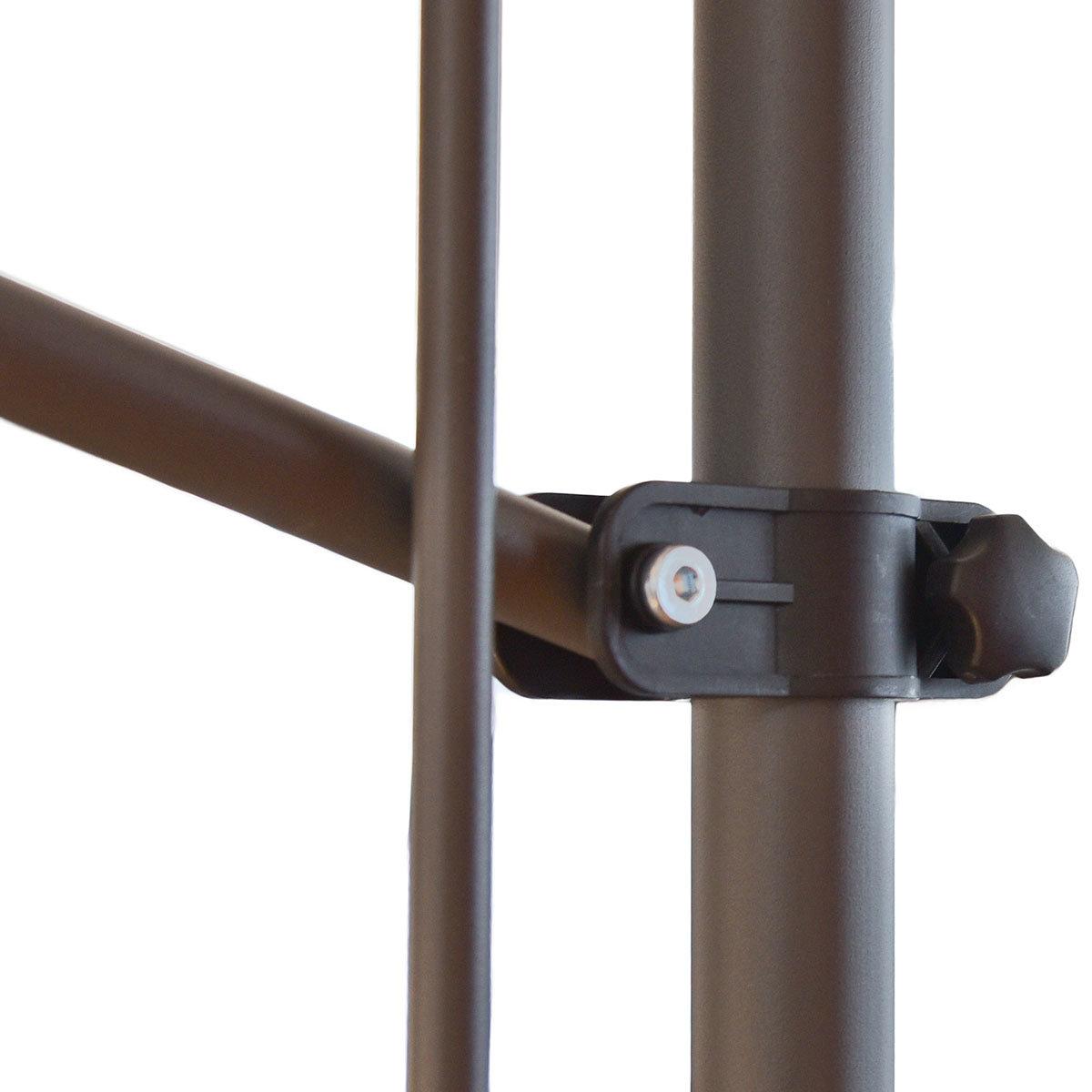 Klemmmarkise 300x300 cm, schwarz | #7