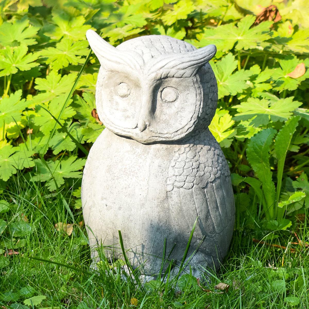 Gartenfigur Steineule, Antik - Steinguss, frostsicher | #7