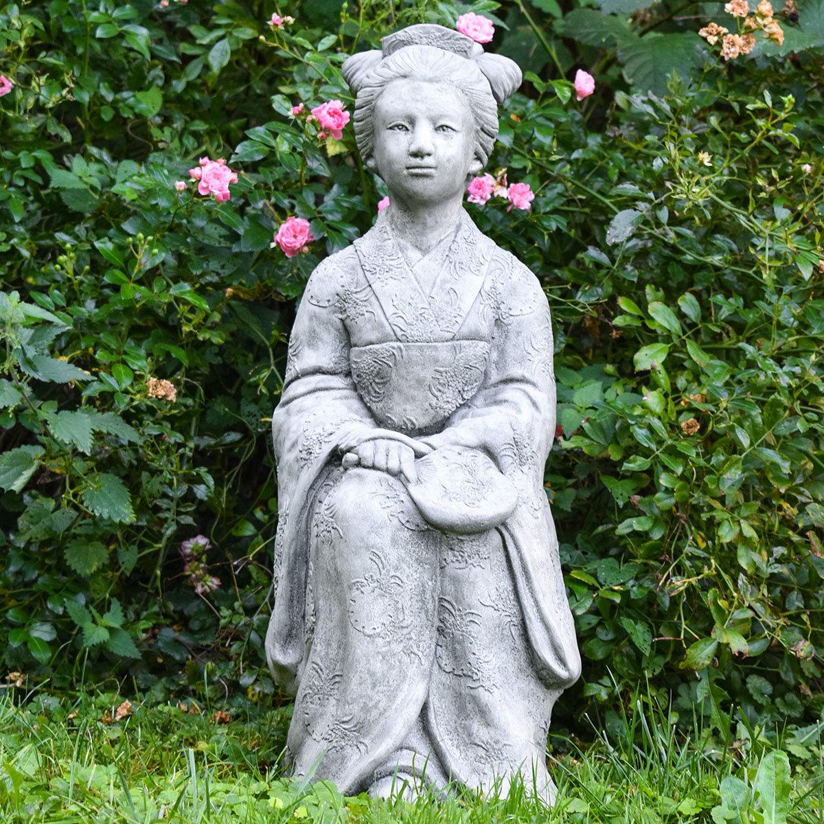Garten-Steinfigur Geisha | #7