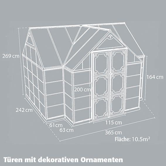 Orangerie Victory inkl. Stahlfundament - 10,5 qm | #7