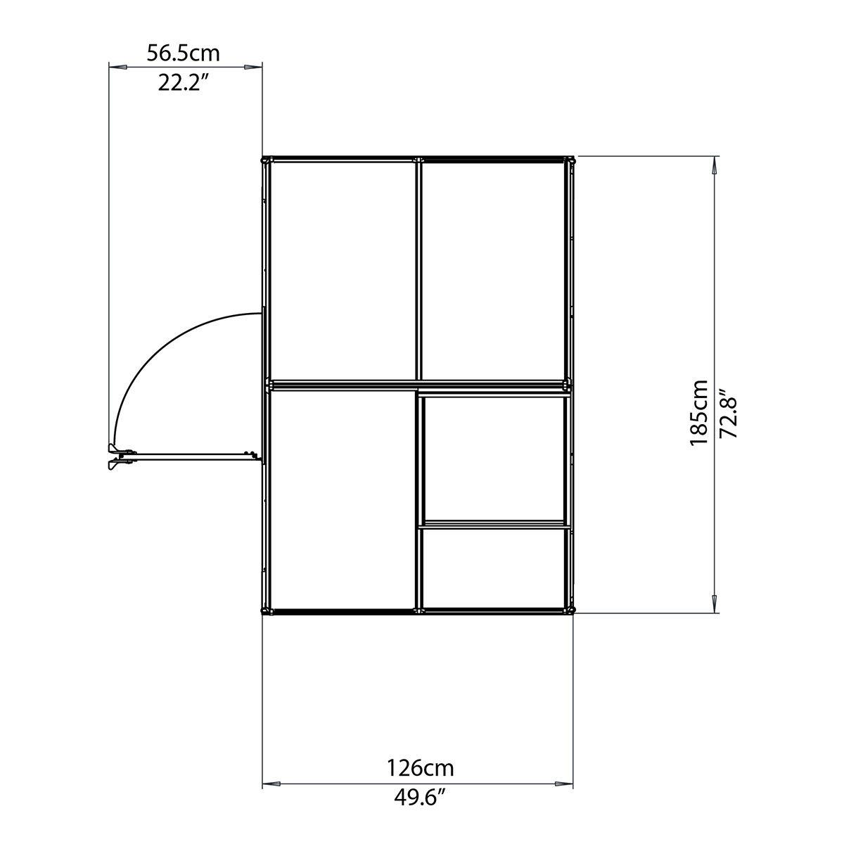 Gewächshaus Multi Line 6 x 4 inkl. Stahlfundament | #7