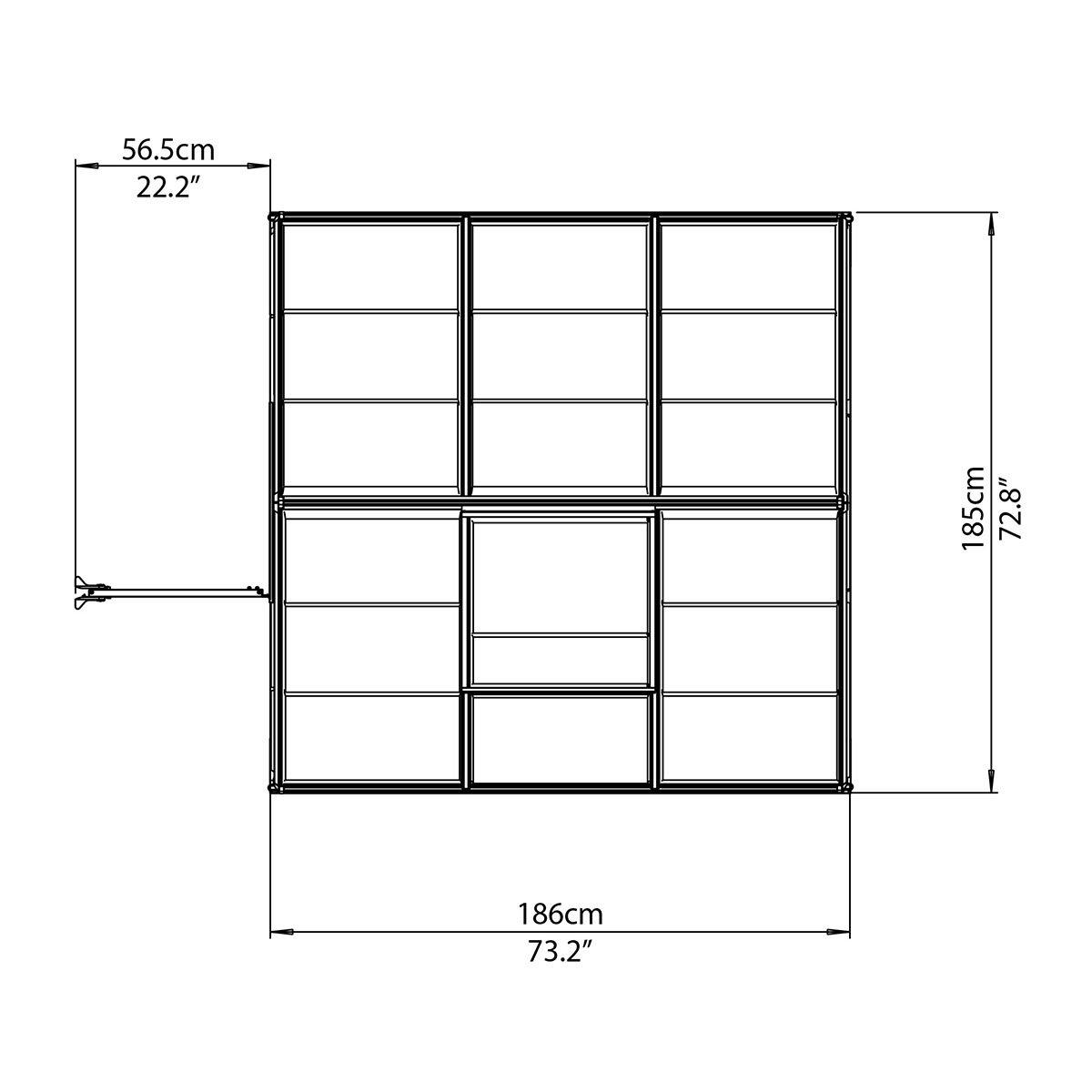 Gewächshaus Multi Line 6 x 6 inkl. Stahlfundament | #7