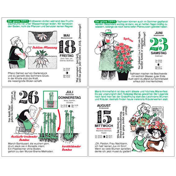Gärtner Pötschkes MAXI-Abreißkalender Der große Grüne Wink® | #7