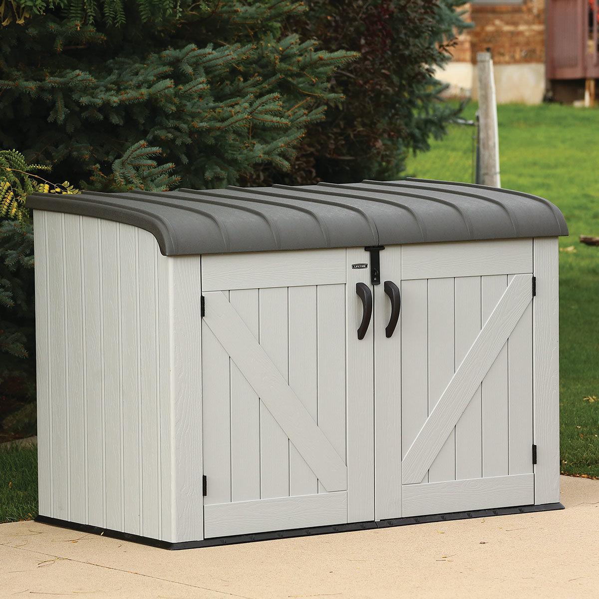 Gerätebox-Mülltonnenbox, 132x191x108 cm, grau | #8
