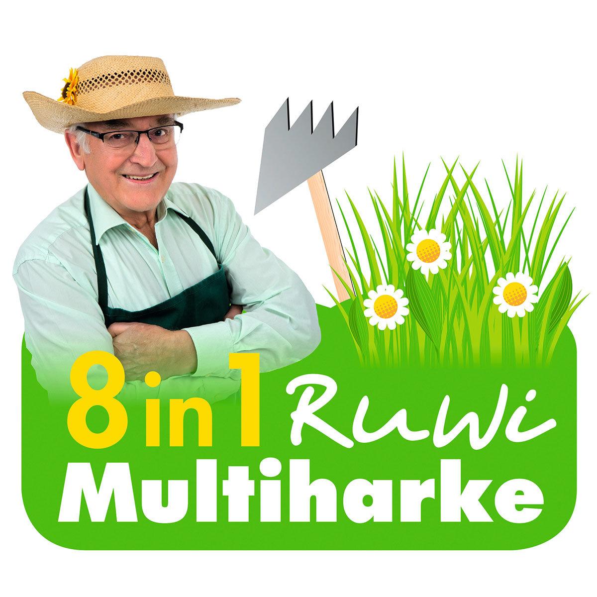 Ruwi Gartenharke 8 in 1, Edelstahl | #8