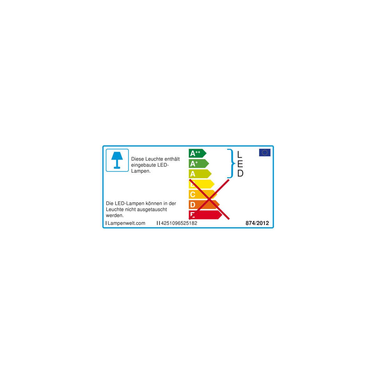 Solar-LED-Leuchtstein Lior, 16x19,5x14 cm, grau | #8