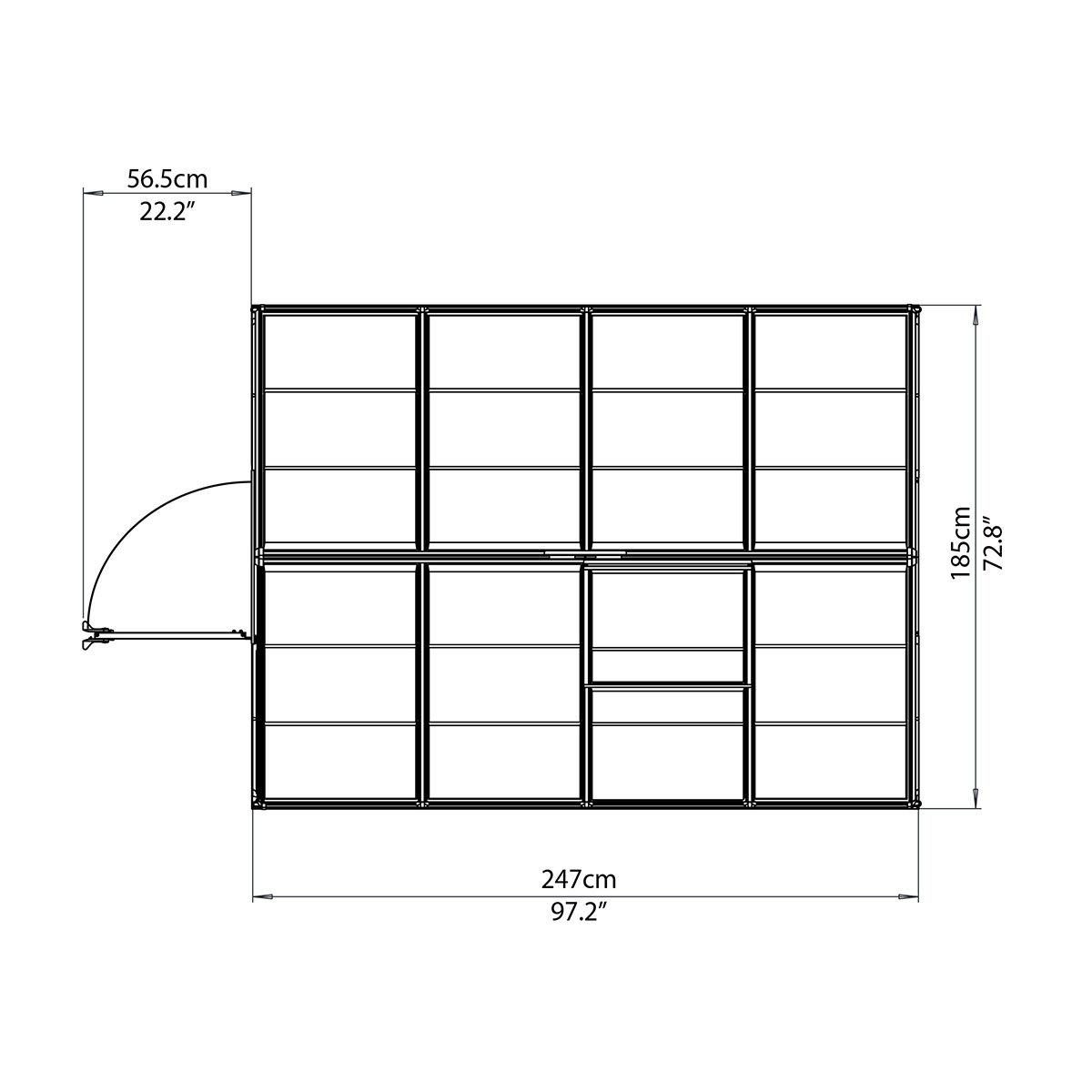 Gewächshaus Silver Line 6 x 8 inkl. Stahlfundament | #8