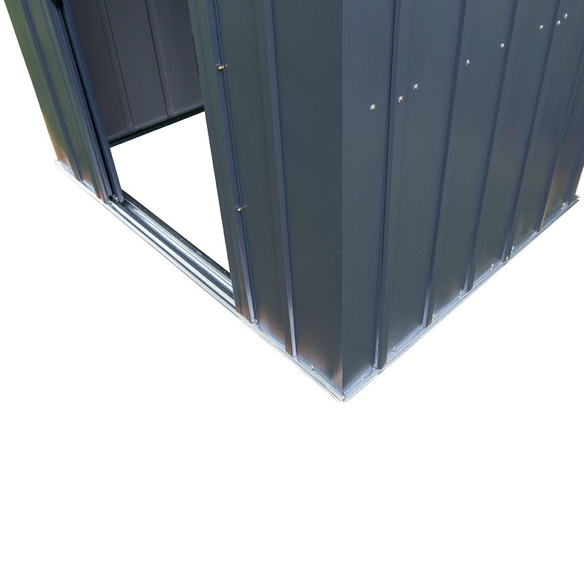 Metallgerätehaus, rostfrei, verzinkter Stahl, ca. 151 x 190 x 194 cm   #9