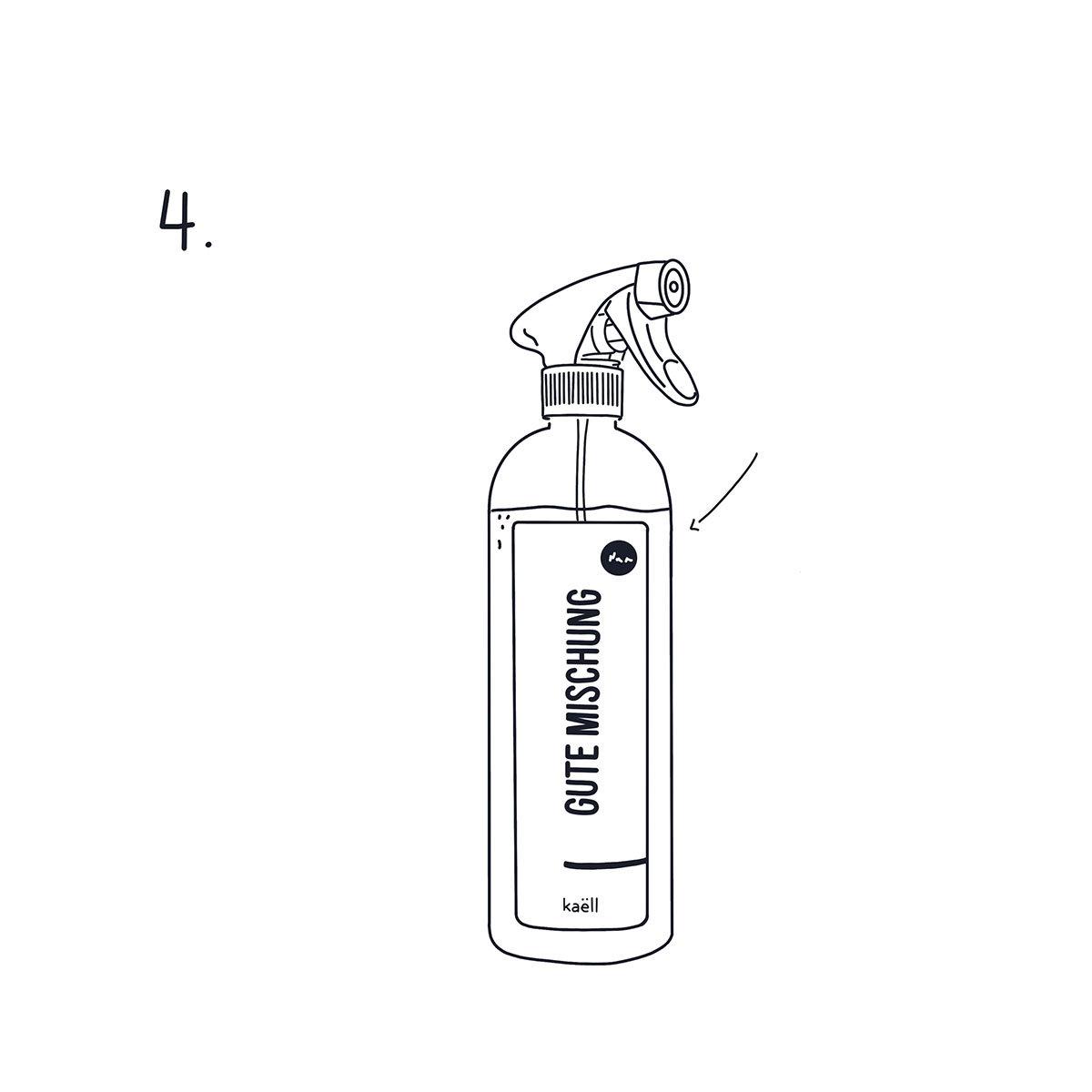 Mischflasche Gute Mischung Garten für Konzentrate, mit Sprühkopf, 750 ml | #9
