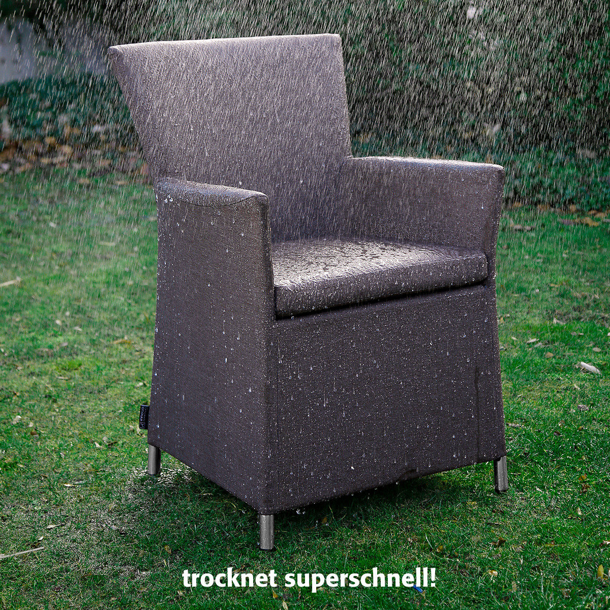 Outdoor Sessel Daisy ohne Armlehnen braun | #9