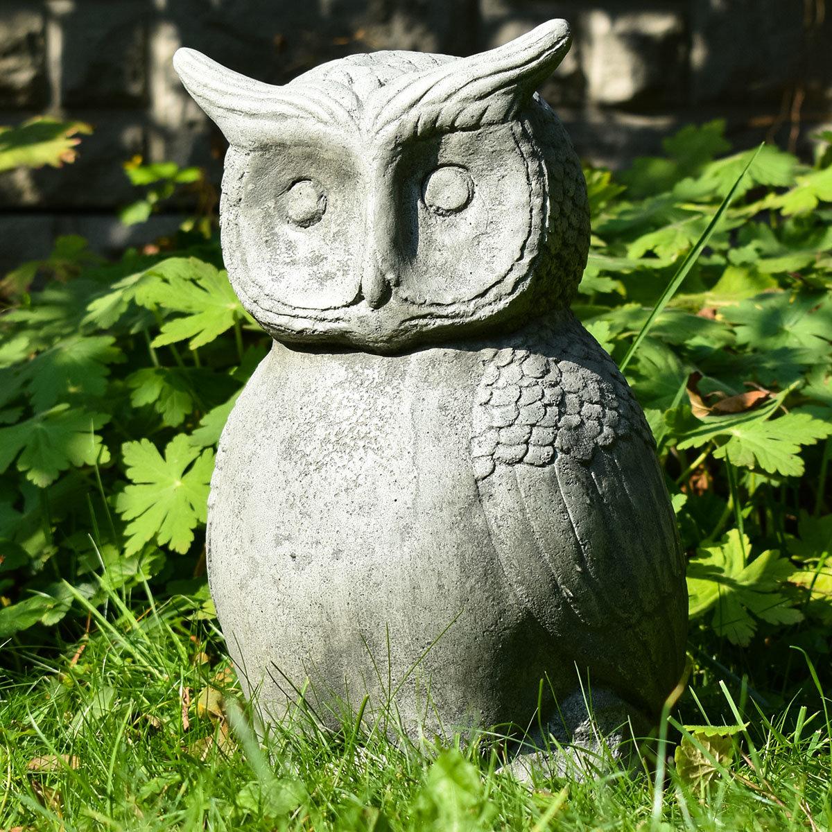 Gartenfigur Steineule, Antik - Steinguss, frostsicher | #9