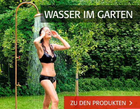 + Wasser im Garten +