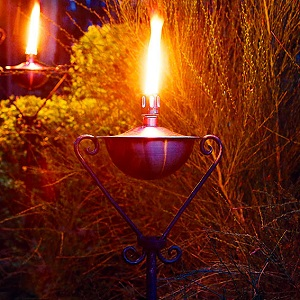 entzündete Öllampe