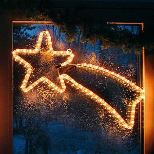 Weihnachtsstern Fenster